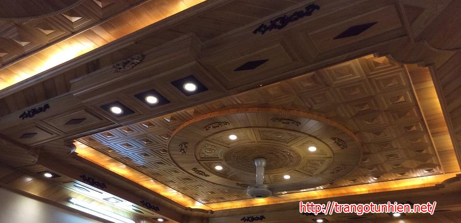 lắp ghép trần gỗ